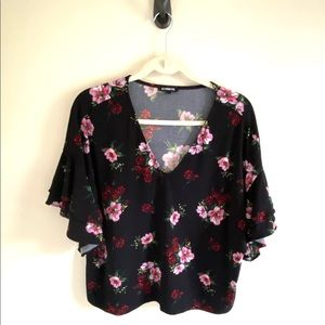Express Floral Cropped Top